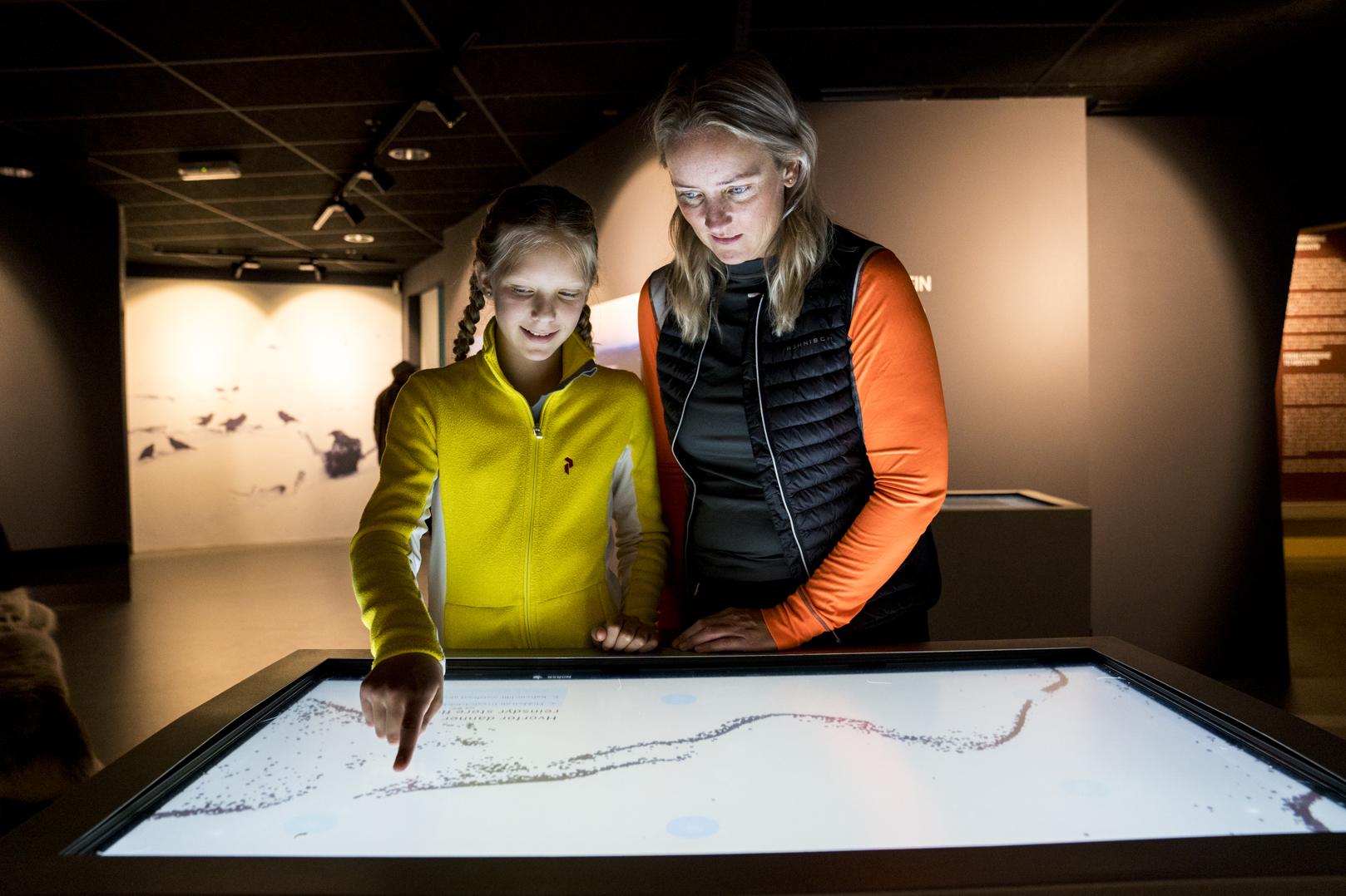Hardangervidda nasjonalparksenter interaktivutstilling